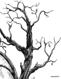 ballpoint pen stag skull detail holly holt