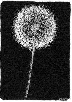 dandelion illustration by holly holt