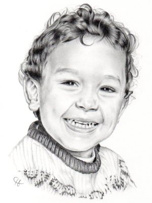 pencil portrait little boy by holly holt
